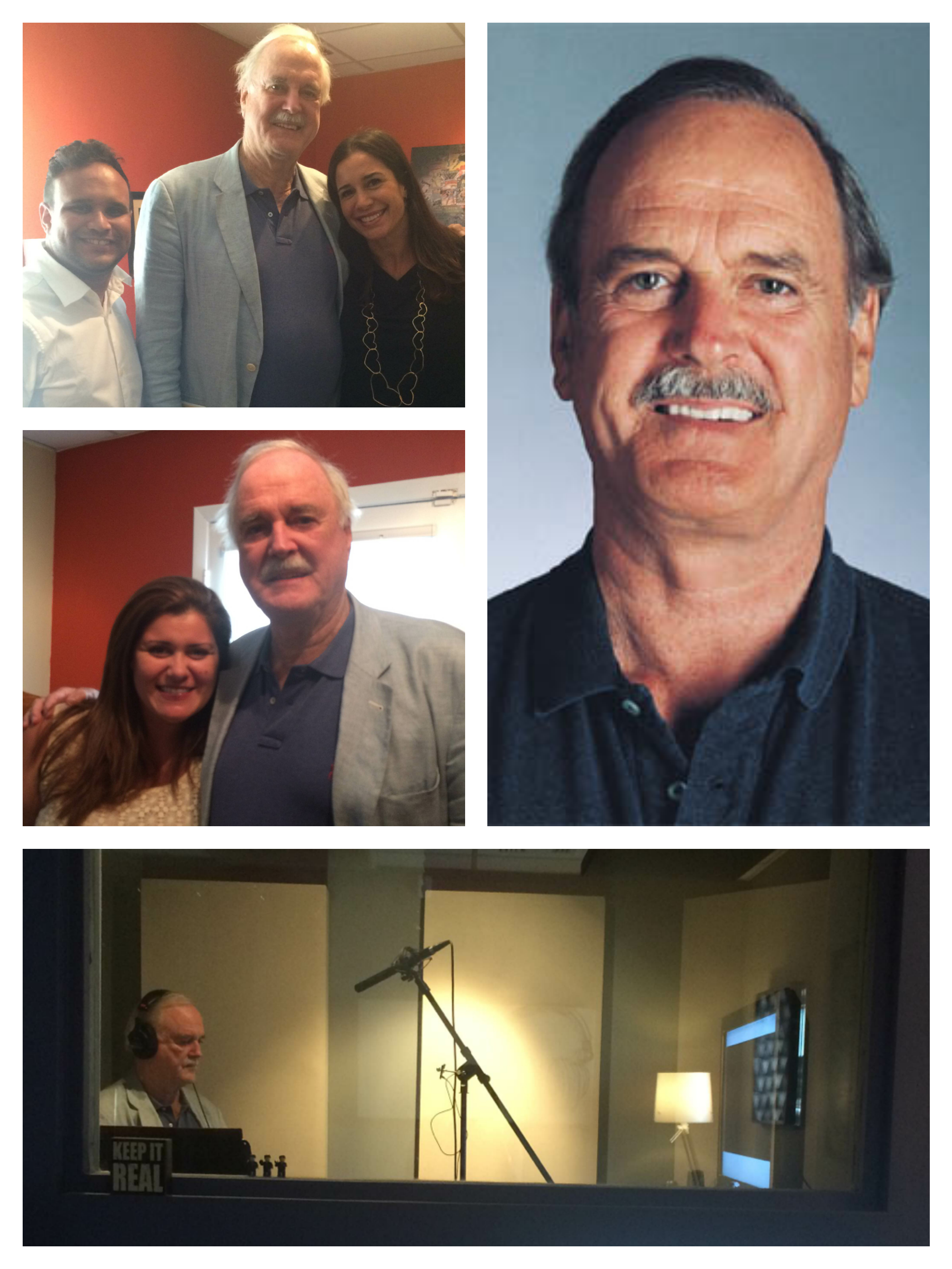 John Cleese recording an ADR for a commercial spot for Specsavers