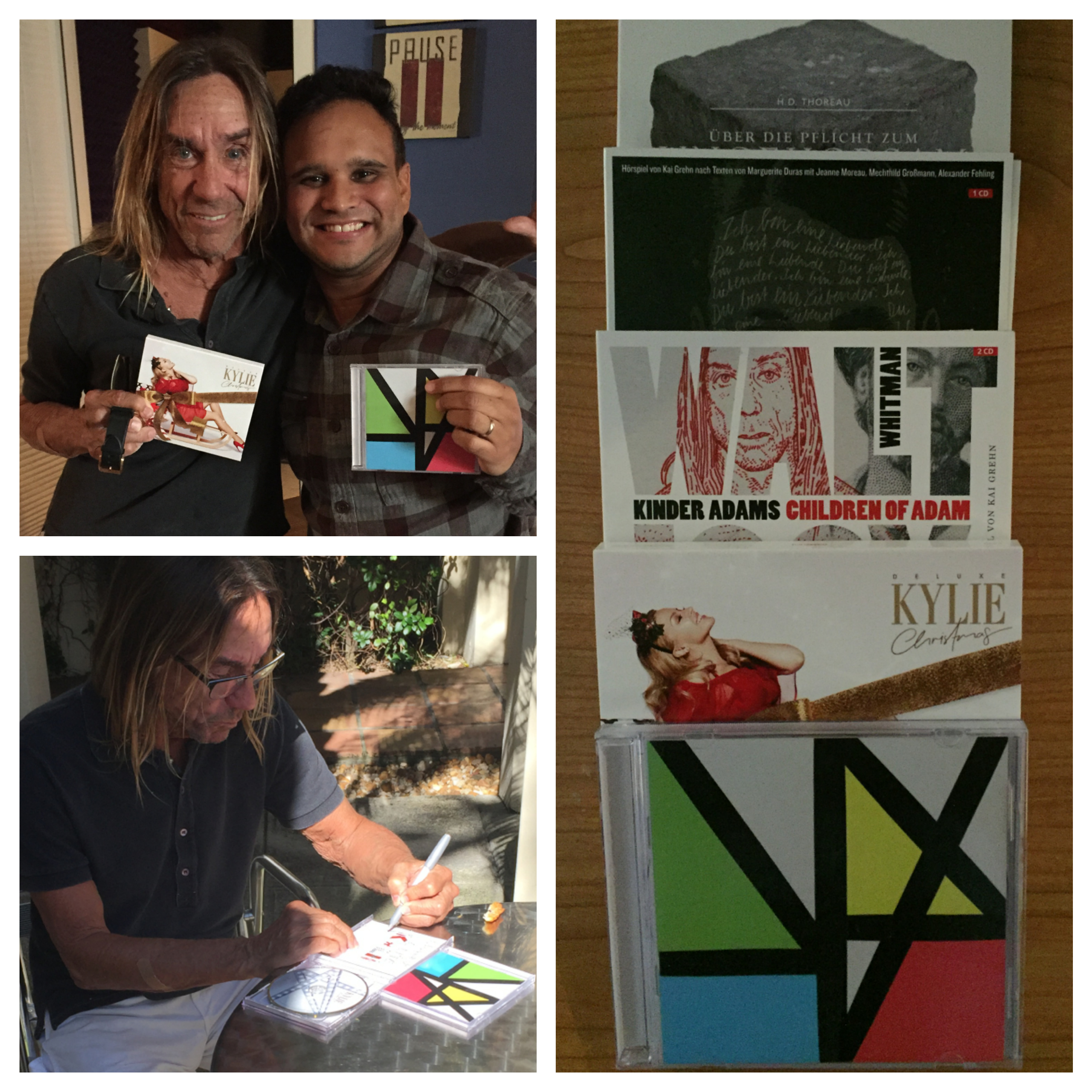 Iggy Pop is a regular client that records his Radio Show and some participations in his albums with Elite Music Studios