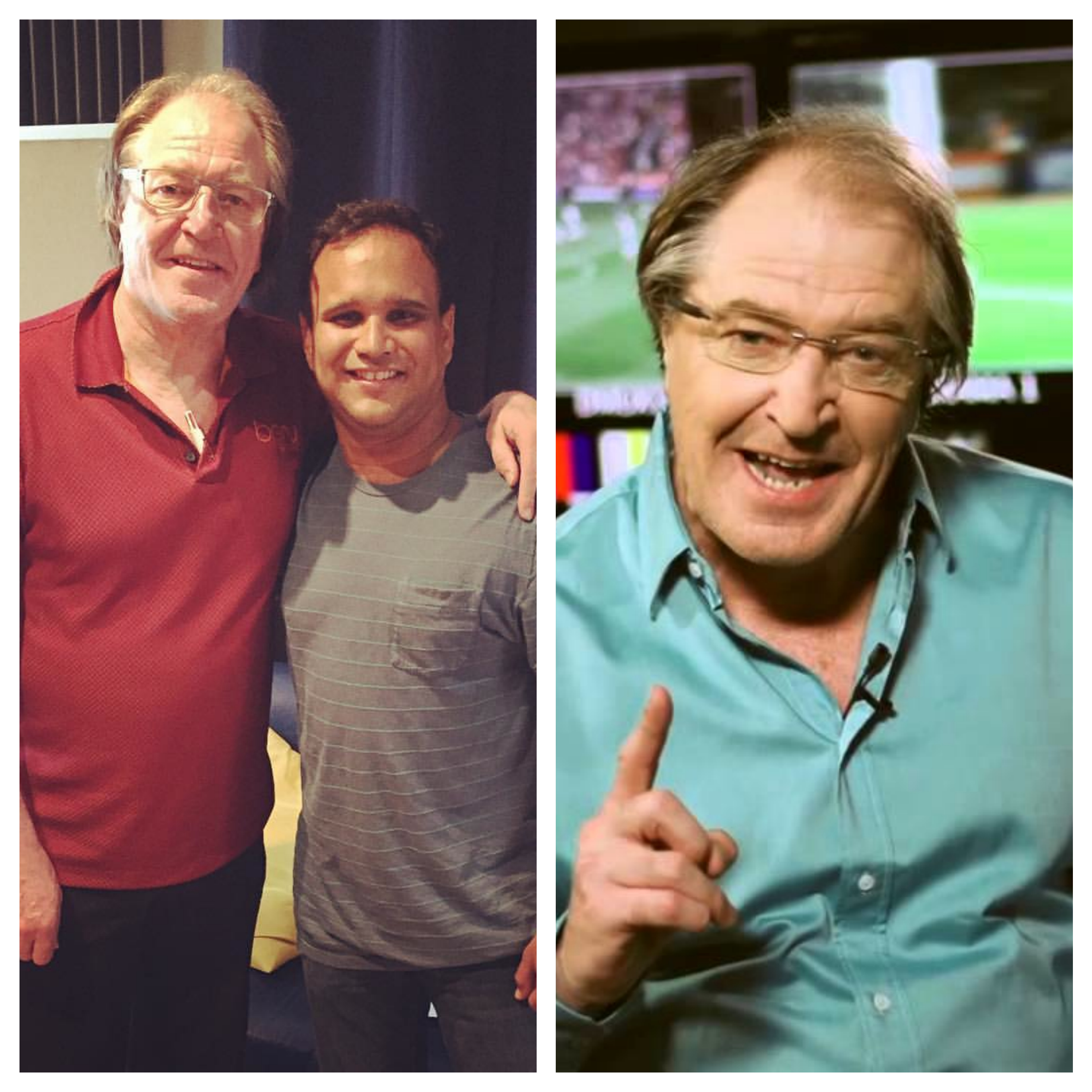Ray Hudson recording VOs for commercial campaign for Soccer Shots Store